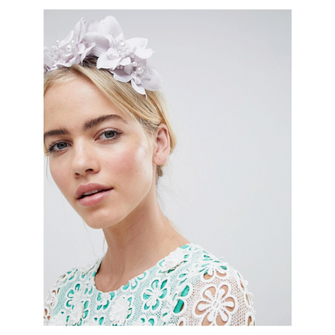 ASOS DESIGN Crystal And Pearl Floral Headband