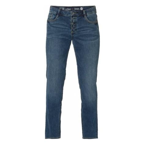 Jeansy w dekatyzowanym stylu o kroju regular fit s.Oliver