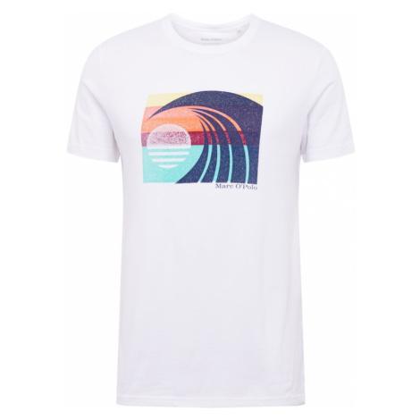 Marc O'Polo Koszulka biały / jasnoniebieski / granatowy / pomarańczowy / żółty