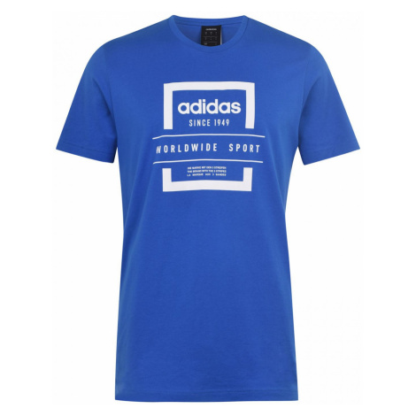 Adidas Label Linear QT T Shirt Mens