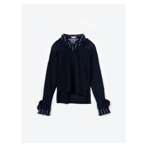 GATE Sweter z koszulową wstawką