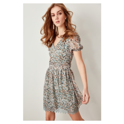 Trendyol Blue Floral Dress