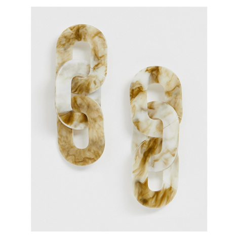 ASOS DESIGN earrings in linked resin design