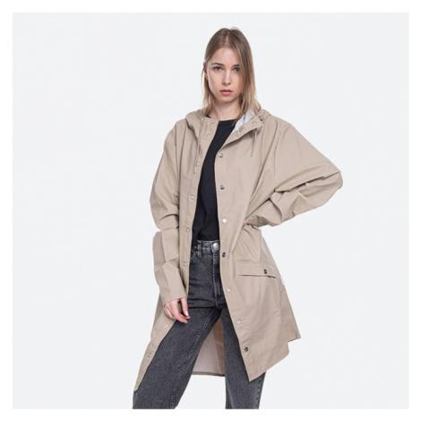 Płaszcz damski Rains Long Jacket 1202 BEIGE