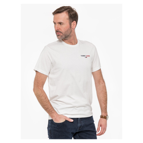 "Tommy Jeans ""Chest Corp Tee"" White Tommy Hilfiger"