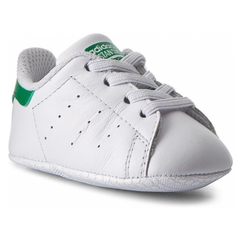 Buty adidas - Stan Smith Crib B24101 Ftwwht/Ftwwht/Green