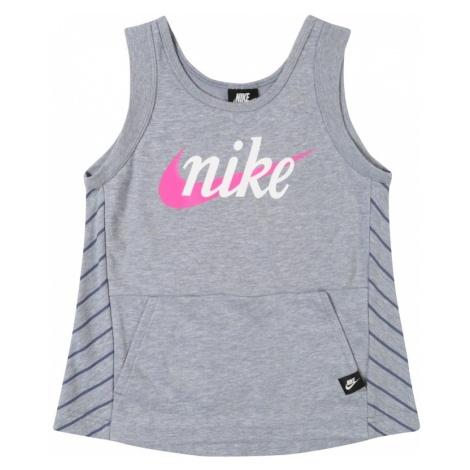 Nike Sportswear Top szary / różowy / biały