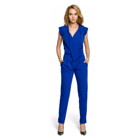 Made Of Emotion Woman's Jumpsuit M196 Royal