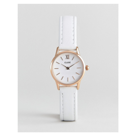CLUSE La Vadette CL50030 leather strap watch in white
