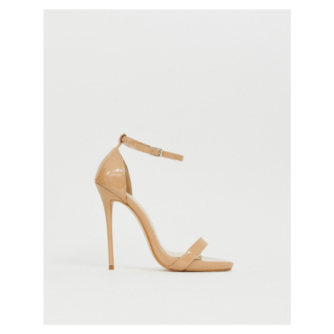 Simmi London Sheena Latte barely there heeled sandals