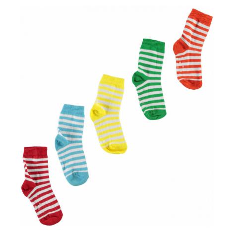 Crafted Essentials 5 Pack Stripe Socks Baby Boys