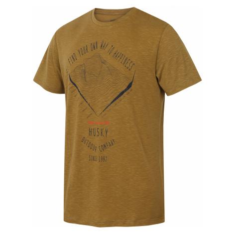 Men's Tingl M khaki T-shirt Husky