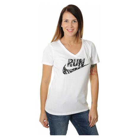 koszulka Nike Run P W Core Run Swoosh - 100/White/Black