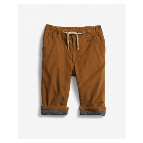 GAP Spodnie dziecięce Brązowy