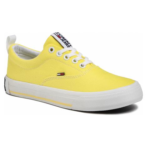 Tenisówki TOMMY JEANS - Lowcut Essential Sneaker EN0EN00794 Frozen Lemon ZIO Tommy Hilfiger
