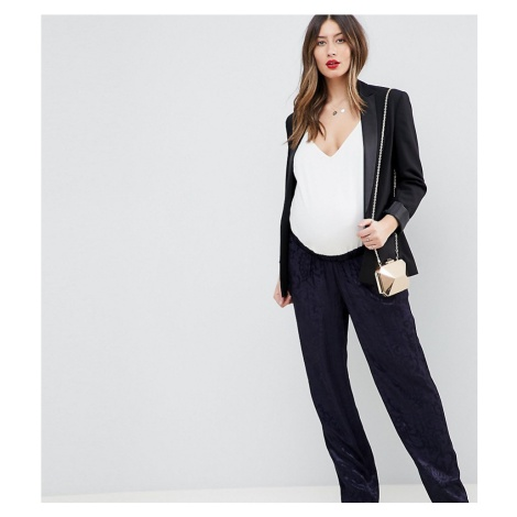 ASOS DESIGN Maternity tailored soft jacquard trousers