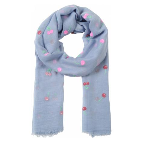CODELLO Szalik 'Cherries Flock' jasnoniebieski / jasnozielony / różowy / czerwony
