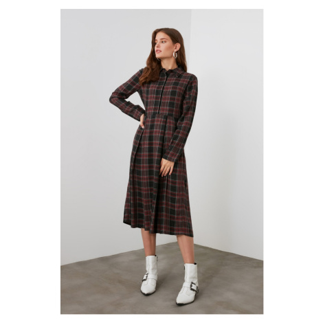 Trendyol Red Plaid Dress