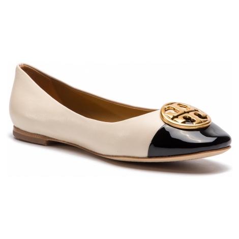 Baleriny TORY BURCH - Chelsea Cap-Toe Ballet 46882 New Cream/Perfect Black 100