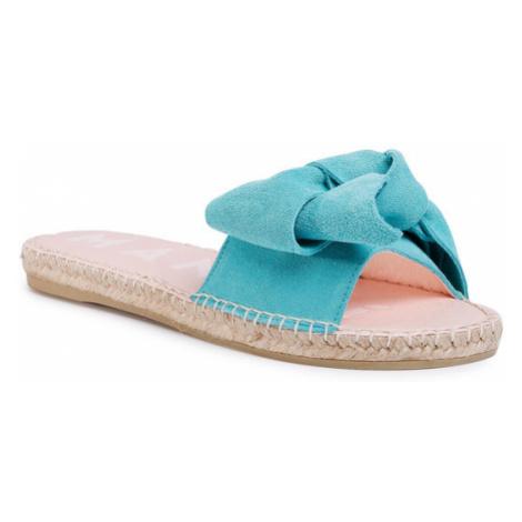 Manebi Espadryle Sandals With Bow M 3.6 J0 Niebieski