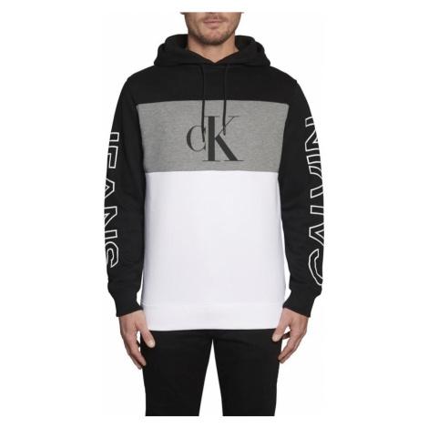 Calvin Klein Jeans Bluzka sportowa czarny / biały / nakrapiany szary