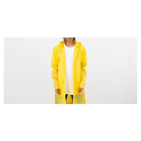 Rains Hooded Coat Foggy Yellow