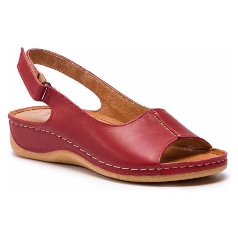 Sandały POLLONUS - 5-0920-052 Czerwony