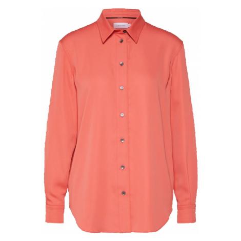 Calvin Klein Bluzka 'PIPING' pomarańczowo-czerwony
