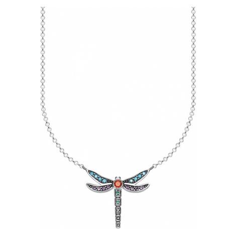 Thomas Sabo Łańcuszek 'Libelle' mieszane kolory / srebrny