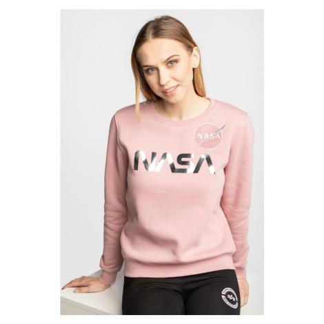 Bluza Alpha Industries Nasa Pm Sweater Wmn 487 Pink/silver