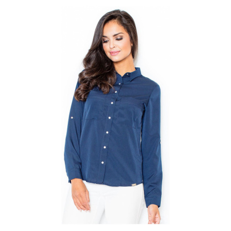 Figl Woman's Shirt M384 Navy Blue