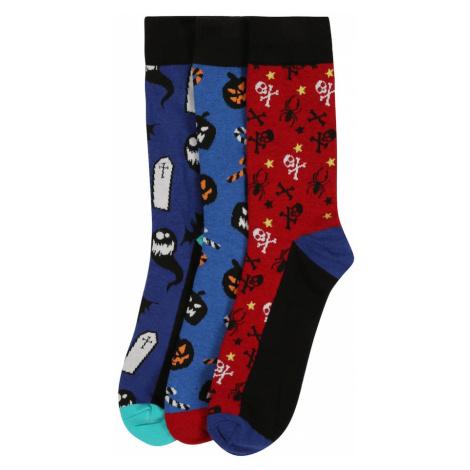 JACK & JONES Skarpety 'Halloween' czerwony / niebieski / mieszane kolory