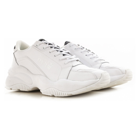 Versace Jeans Couture Trampki dla Mężczyzn Na Wyprzedaży, biały, Skóra, 2019