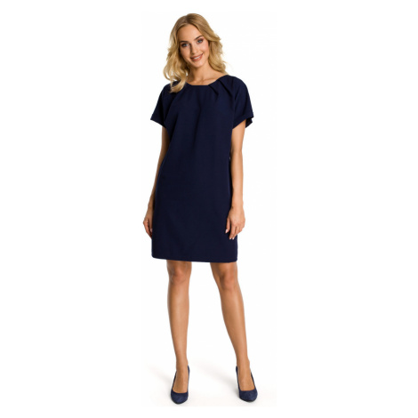 Made Of Emotion Woman's Dress M337 Navy Blue