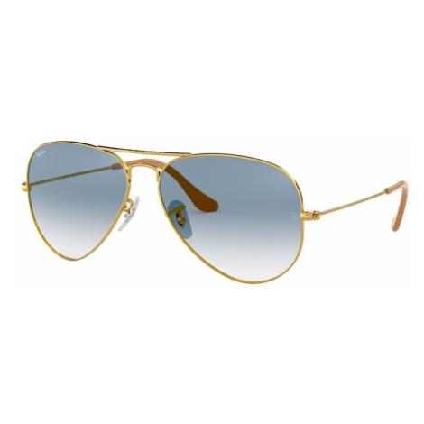 Ray-Ban Okulary przeciwsłoneczne 'Aviator' złoty / niebieski