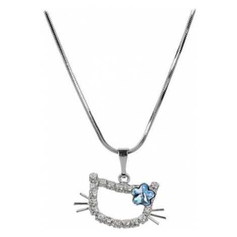 Troli Dziewczyny Kitty naszyjnik z kwiatem Aquamarine