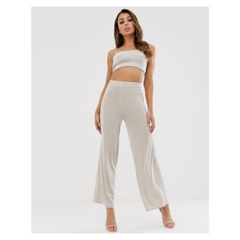 ASOS DESIGN co-ord wide leg trouser in slinky