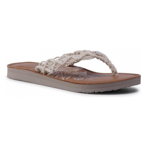 TOMMY HILFIGER Japonki Tropical Leather Beach Sandal FW0FW04985 Beżowy