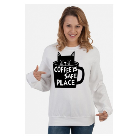 Bluza damska cat coffee is safe place