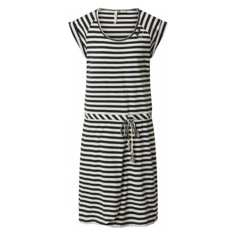 Ragwear Sukienka czarny / biały