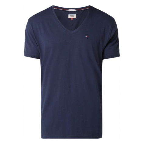 T-shirt z dekoltem w serek Tommy Hilfiger