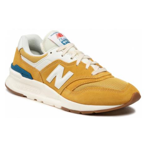 New Balance Sneakersy CM997HRW Żółty