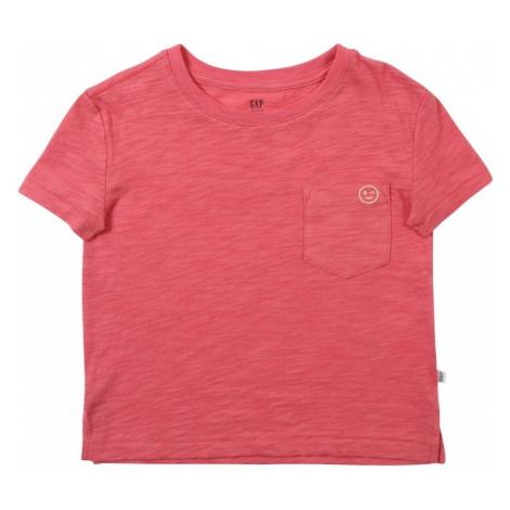 GAP Koszulka 'PKT EMB TEE' różowy