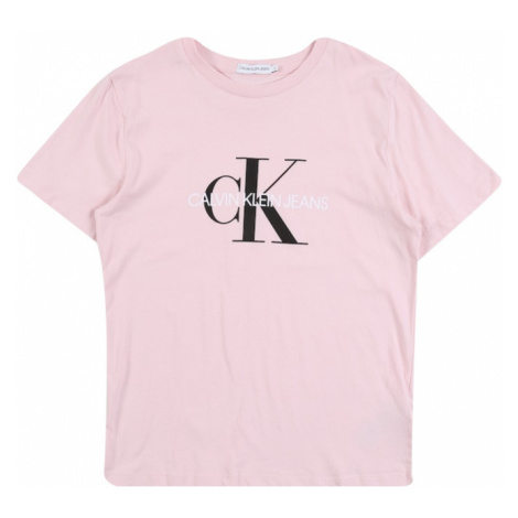 Calvin Klein Jeans Koszulka 'MONOGRAM LOGO T-SHIRT' różowy pudrowy