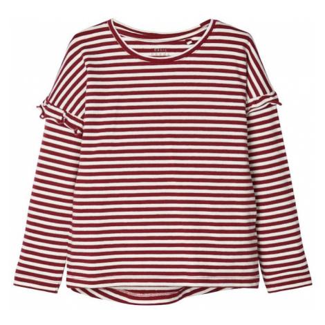 NAME IT Koszulka 'NMFVERDI LS TOP R' ognisto-czerwony / biały