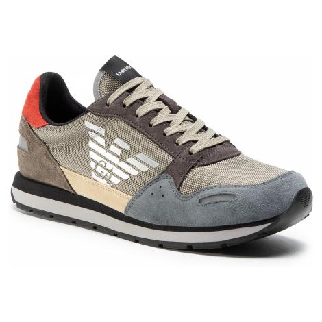 Sneakersy EMPORIO ARMANI - X4X215 XL200 N062 Castler/Sand/Bronze