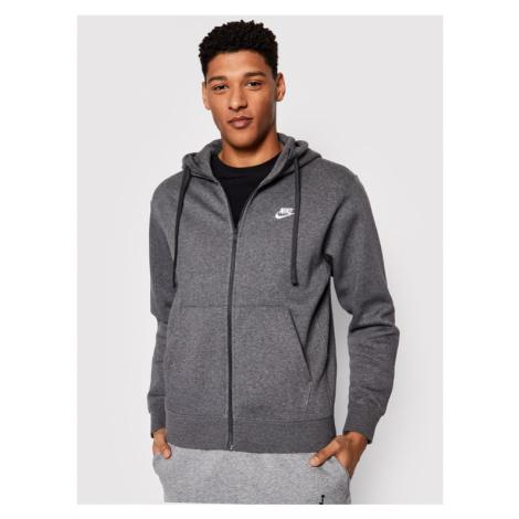 Nike Bluza Club Hoodie BV2645 Szary Regular Fit