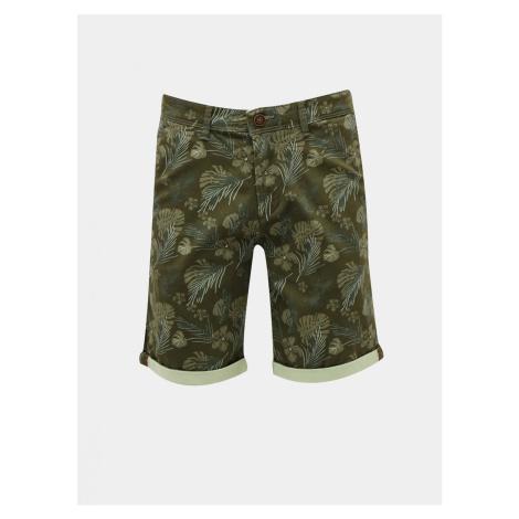 Dark Green Patterned Shorts Jack & Jones Bowie