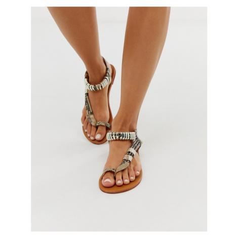 Carvela asymmetric toe post sandal