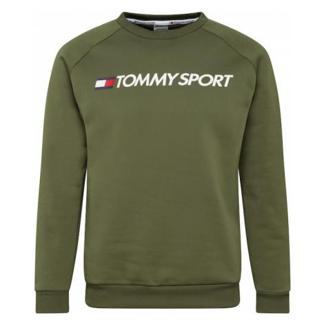 Tommy Sport Bluzka sportowa khaki